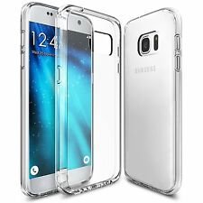 For Samsung Galaxy S7 Case Ultra Slim Clear Silicon Gel Cover & Screen Film