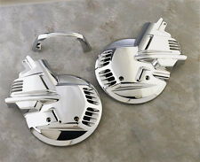 Chrome Front Rotor Cover Set by Show Chrome for 88-00 Goldwing GL1500 (2-497)