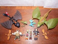 RARE How to Train Your Dragon figure toy playset Toothless Astrid Hiccup bundle
