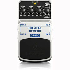 Behringer DR600 Digital Stereo Spring Plate Hall Reverb Guitar Effects Pedal