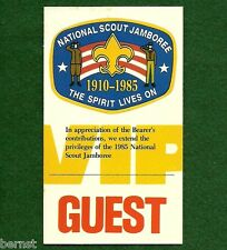 BOY SCOUT 1985 JAMBOREE VIP GUEST PASS - FREE SHIPPING        XX