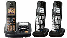 Panasonic KX-TG6591 DECT 6.0 Cordless Phone with Answering System, 3 Handsets