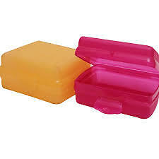 tupperware sandwich keeper sf 2 (pink + yellow)