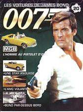 CAHIER AUTOMOBILE Les Voitures de James Bond 007 MGB      15 pages