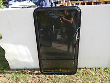 "RV Trailer Window, HEHR, 28""X48"", Emergency Exit, W/Screens, N0 Rings, #102"