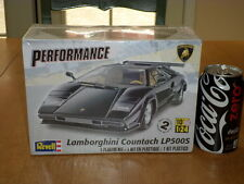 LAMBORGHINI COUNTACH LP500S, SPORTS CAR, PLASTIC MODEL CAR KIT, SCALE 1/24