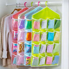 16 Pockets Clear Door Hang Bag Shoe Slipper Rack Hanger Storage Tidy Organizer