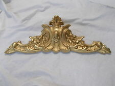 ORNATE LARGE DECORATIVE CENTER PIECE  MOULDING ~ PEDIMENT