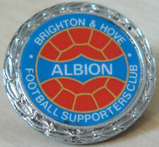 BRIGHTON & HOVE ALBION Vintage 1970s 80s insert badge Brooch pin 29mm x 29mm