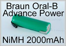NEW NiMH Battery Braun Oral-B Advance Power Toothbrush Repair