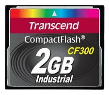 2GB Transcend CF 300X Speed SLC Industrial CompactFlash Memory Card