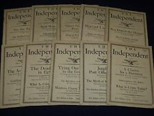 1925 THE INDEPENDENT WEEKLY MAGAZINE LOT OF 35 ISSUES - ARTICLES & ADS - WR 706