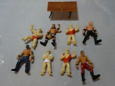 LOT 8 WWE WWF JAKKS Mini WRESTLING action FIGURE WRESTLER Table poseable 2006