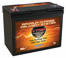 VMAX MR96 AGM DEEP CYCLE BATTERY IDEAL FOR 38-55LB Shakespeare Trolling Motor