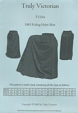 Schnittmuster Truly Victorian TV 264: 1883 Riding Habit Skirt