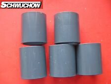 5 St. PVC Muffe Klebemuffe d 50 mm DN 40 innen / innen Pool Wasserrohr Verbinder