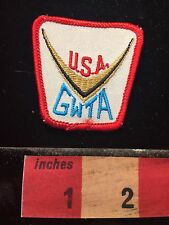 Vtg USA GWTA Patch ~ Gold Wing Touring Association Honda Goldwing 60C9