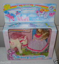 #8880 Ultra Rare Vintage Hasbro My Little Pony Megan & Sundance Set