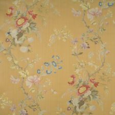 SCALAMANDRE EXQUISITE MEISSEN SILK LAMPAS DAMASK FABRIC 10 YARDS TABAK