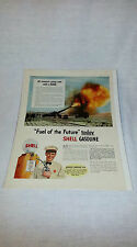 "Vintage 1941 Shell Gasoline Life Magazine Ad ""Fuel Of The Future Today"""