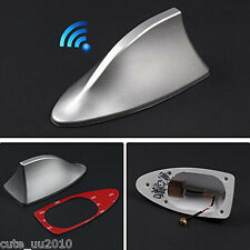 Functional Car Roof 1PC Silver Shark Fin Aerial Antenna Enhance the FM AM Signal