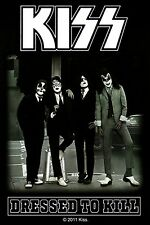 Sticker Kiss Dressed to Kill Album Cover Art Rock Metal Music Band Decal
