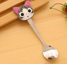 Cheese Cat Silica Gel Cartoon Stainless Steel Children's Spoon Soup Coffee Spoon