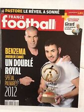 FRANCE FOOTBALL 18 DECEMBRE 2012 BENZEMA JOUEUR FRANCAIS DE L'ANNEE