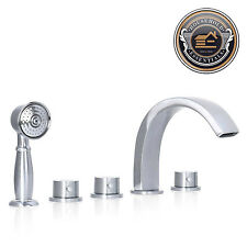 Brushed Nickel Roman Tub Bathtub Faucet Spout with Hand Shower Spray