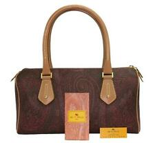 NEW ETRO PAISLEY PRINT COATED CANVAS BROWN DUFFLE SATCHEL BAG
