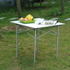 New Roll Up Portable Folding Camping Square Aluminum Picnic Table w/Bag 28