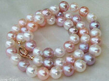 Pretty 8mm Natural Multi-Color Akoya shell Pearl Necklace 18''