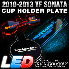 Surface Emission LED Cup Holder Lettering Plate For HYUNDAI 11-14 YF Sonata i45