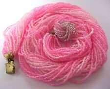 Gorgeous VINTAGE 1950s Glamour Pink GLASS BEAD 25 Row Costume Jewellery NECKLACE