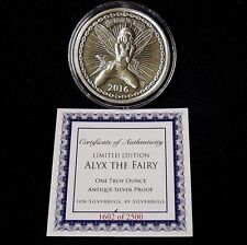 SilverBug Antiqued Alyx The Fairy 1 oz. 999 silver with COA limited to 2500