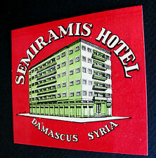 1950's SEMIRAMIS HOTEL~DAMASCUS SYRIA~NICE CONDITION~2 AVAILABLE