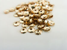 10 x 4mm Gold Filled Flower Bead Caps Rolled Gold Endbeads Findings