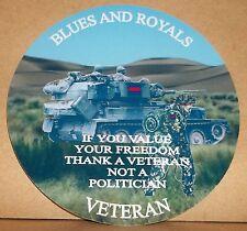 Les blues and royals vétéran 9cm vinyle autocollant personnalisé...