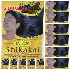 12 BOXES Hesh Herbal 100g/3.5oz Shikakai Powder ACACIA CONCINNA USA-FAST SHIPPER