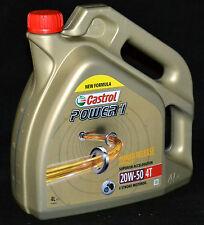 4 Liter Castrol POWER 1 4T 20W-50 Motorrad Öl JASO MA-2 API SJ 4 Takt 20W50