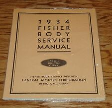 1934 GM Fisher Body Service Manual Buick Chevrolet 34 Chevy