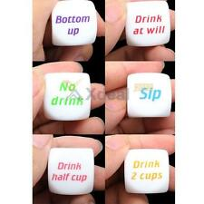 New Drink Decider Die Games Bar Party Pub Dice Fun Funny Toy Drinking Game