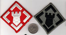 PAIR OF US ARMY PATCHES ONE Patch Color & ONE Subdued CLOTH BADGE ENGINEER UNIT