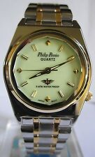Philip Persio Two tone  Glows Japan  Water proof Men Watch
