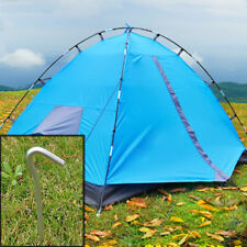 4Pcs Aluminum Tent Pegs Stakes Hook Pin Camping Outdoor Trip Essential