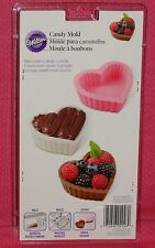 Heart Shaped Dessert Shell Chocolate Candy Mold,Wilton,Clear Plastic,2115-0026
