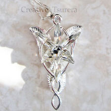 Lord of the Rings Arwen Evenstar Necklace Crystal Twilight Princess Elf Wedding