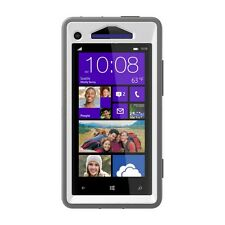 Otterbox Defender Case Cover Skin HTC Windows Phone X8 - Grey/White Glacier