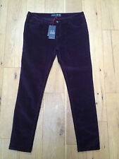 BNWT Musto Ladies Purple Slim Fit Parry Cords @ Size 16 R NEW Skinny Trousers