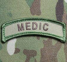 MEDIC TAB USA ARMY VELCRO® BRAND FASTENER MULTICAM MORALE BADGE PATCH